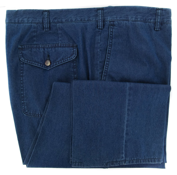 New $325 Rota Blue Solid Pants - Full - (1002C1430002) - Parent