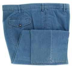 Imperfect $325 Rota Light Blue Solid Pants - Full - 52/68 - (1002C401430001)