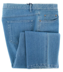 New $325 Rota Denim Blue Solid Jeans - Slim - (NEWG5CEL997012) - Parent