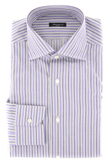 $375 Sartorio Napoli Purple Striped Shirt - Slim - (SA-C1723-STRX12) - Parent