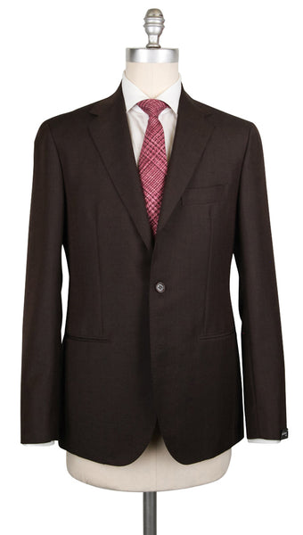 New $3600 Sartorio Napoli Dark Brown Wool Blend Solid Suit - (SA919178) - Parent