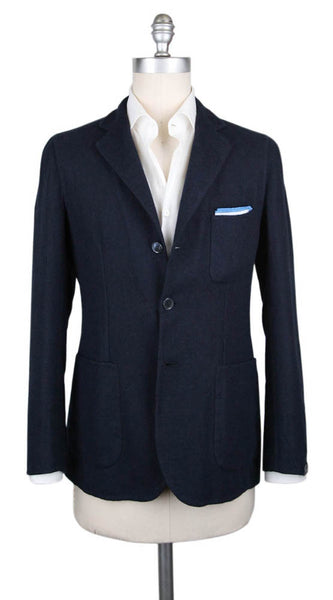 New $3300 Sartorio Napoli Navy Blue Solid Sportcoat - (SA914177) - Parent