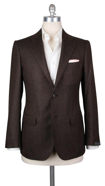 New $4200 Sartorio Napoli Brown Cashmere Sportcoat -  44/54 - (UGT2221G6822R7)