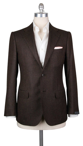 New $4200 Sartorio Napoli Brown Cashmere Sportcoat -  42/52 - (UGT2221G6822R7)