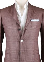 New $2400 Sartorio Napoli Brown Plaid Sportcoat -  40/50 - (UGG322S410709)