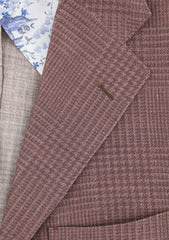 New $2400 Sartorio Napoli Brown Plaid Sportcoat -  38/48 - (UGG322S410709)