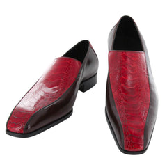 New $2200 Saint Crispin's Red Ostrich Shoes - 9 D/8 F - (557STRNAT611)