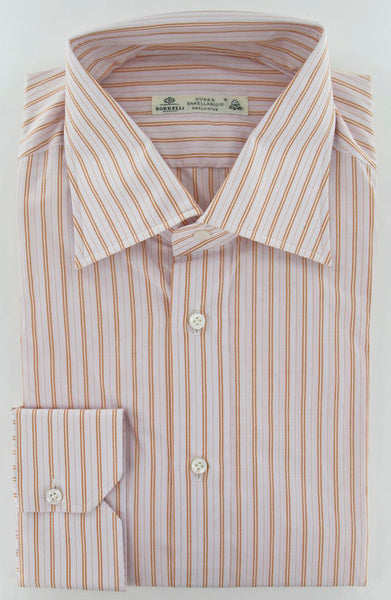 New $475 Borrelli Pink Shirt 15.75/40