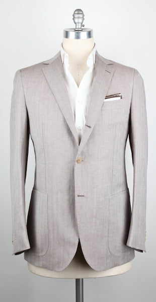 New $3600 Luigi Borrelli Brown Sportcoat 40/50