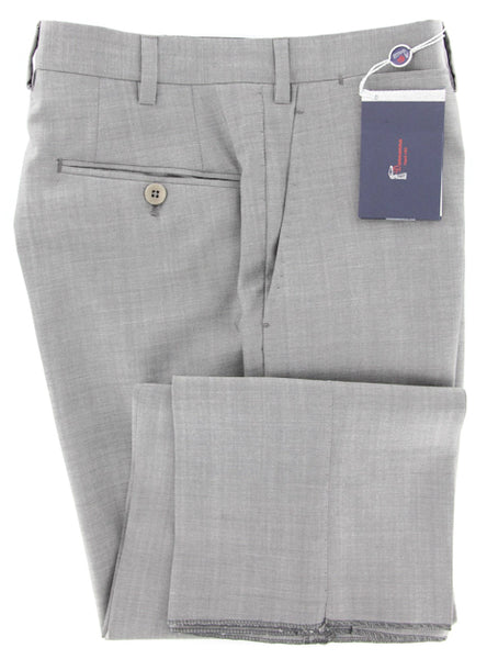 New $600 Donnanna Light Gray Solid Pants - Slim - 40/56 - (LAZIO12540108)