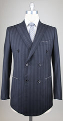 New $4500 Luigi Borrelli Charcoal Gray Wool Suit - 40/50 - (LIPARE/DP/N/R7)