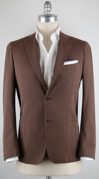 New $2100 Luigi Borrelli Brown Sportcoat 46/56