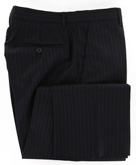 New $600 Luigi Borrelli Black Pants 41/57