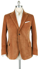 New $2275 Stile Latino Light Brown Corduroy Solid Sportcoat - 46/56 - (GUTUAREG)