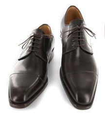 New $1200 Sutor Mantellassi Dark Brown Shoes - Cap Toe - 11.5/10.5 - M10242SC73