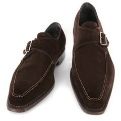 New $1500 Sutor Mantellassi Brown Shoes - Monk Straps - 11.5/10.5 - (1051MORO)
