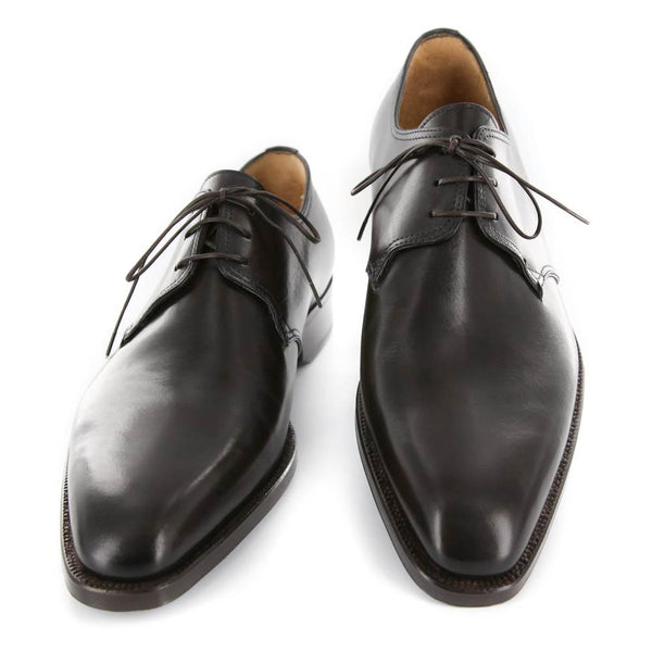 New $1200 Sutor Mantellassi Dark Brown Shoes - Lace Ups - 7/6 - (M10882SC73)