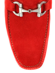 New $500 Sutor Mantellassi Red Shoes - Horsebit Loafers - 14/13 - (SM69027492)