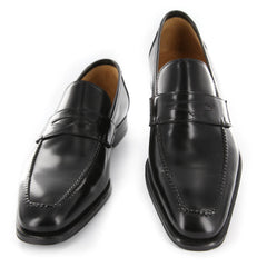 New $850 Sutor Mantellassi Black Shoes - Penny Loafers - 6.5/5.5 - (BS901NERO)