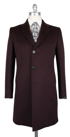 Sartorio Napoli Burgundy Red Coat - 46 US / 56 EU