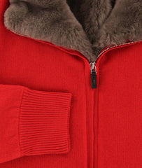 $4800 Svevo Parma Red Cashmere Solid Jacket - (SV14SA17MP1221539) - Parent