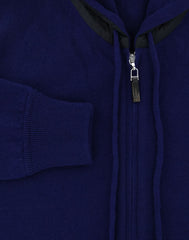 New $1650 Svevo Parma Blue Cashmere Sweater - (143AI14MP012V15C) - Parent