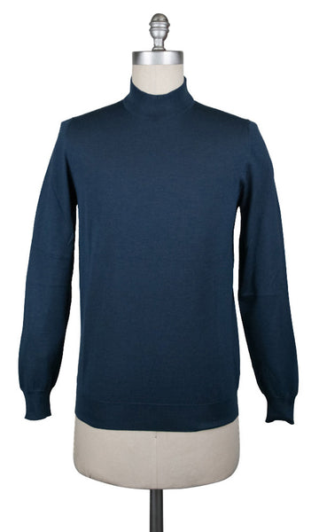 New $950 Svevo Parma Blue Sweater - (06703SA13MP062120H) - Parent