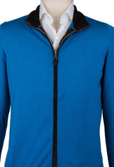 New $1375 Svevo Parma Blue Sweater - Full Zip - (6709AI14MP062649S) - Parent