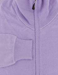 $1875 Svevo Parma Lavender Purple Cashmere Blend Sweater - Full Zip - (501) - Parent