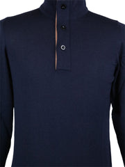 New $650 Svevo Parma Navy Blue Wool Sweater - (0917AI14MP09V21D) - Parent