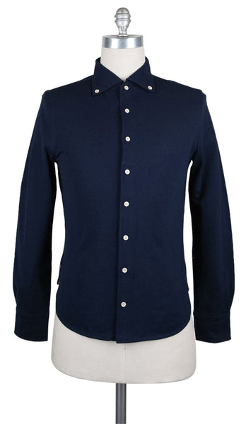 New $500 Svevo Parma Navy Blue Solid Shirt - Extra Slim - (F113182) - Parent