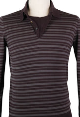 New $650 Svevo Parma Brown Wool Sweater - Polo - Medium/50 - (1321SA8X68)