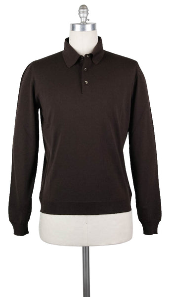 New $650 Svevo Parma Brown Wool Sweater - Polo - X Large/54 - (1330SPE09X70)