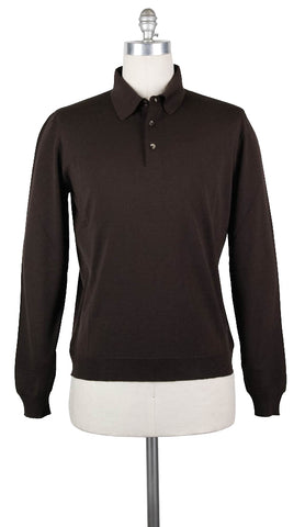 Svevo Parma Brown Wool Sweater - Size: X Large US / 54 EU