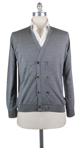 Svevo Parma Gray Wool Sweater - Size: Medium US / 50 EU