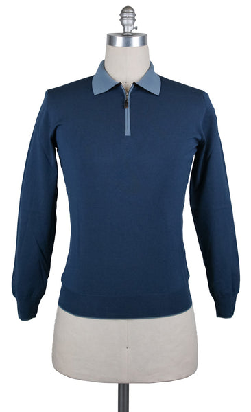 New $825 Svevo Parma Blue Wool Sweater - (1373SA13MP13V15B) - Parent