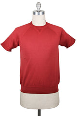 $625 Svevo Parma Red Vintage Wash Crewneck Cotton T-Shirt -  - Medium - (GZ)