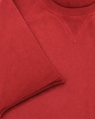 $625 Svevo Parma Red Vintage Wash Crewneck Cotton T-Shirt -  - (GZ) - Parent