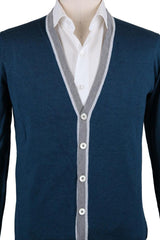 New $525 Svevo Parma Navy Blue Cotton Sweater - Cardigan - (4636SE12MP46V18H) - Parent