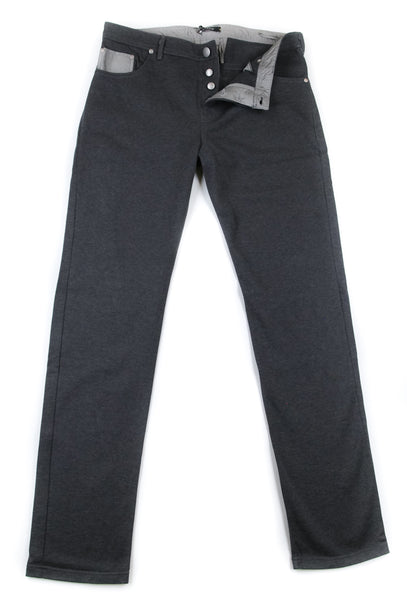 $750 Svevo Parma Dark Gray Knit Pants - (SV-829SE14-MP00021101) - Parent