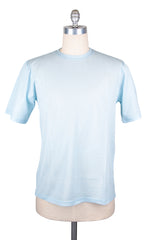 $225 Svevo Parma Light Blue Solid Crewneck Piqué T-Shirt -  - Large - (RL)