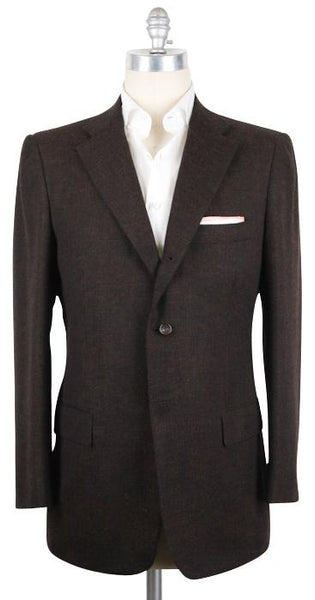 New $6000 Kiton Brown Sportcoat - 100% Cashmere - 44/54