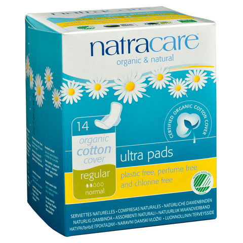 NATRACARE ULTRA REGULAR PAD WITH WINGS 14 COUNT