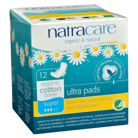 NATRACARE ULTRA SUPER PAD WITH WINGS 12 COUNT
