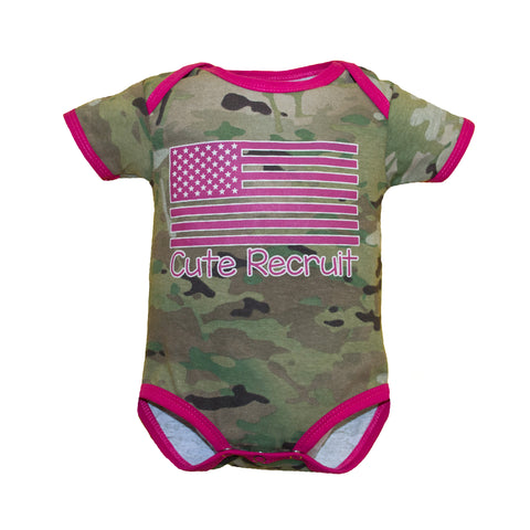 Multicam Cute Recruit Onesie