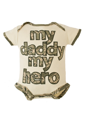 Air Force My Daddy My Hero Embroidered Bodysuit