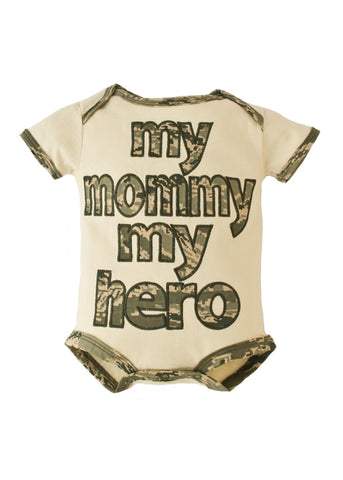 Air Force My Mommy My Hero Embroidered Bodysuit