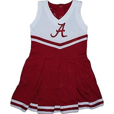 Alabama Crimson Tide NCAA Newborn Infant Baby Cheerleader Bodysuit Dress