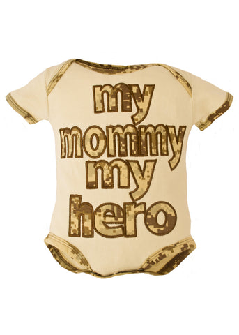 Marine Desert My Mommy My Hero Bodysuit