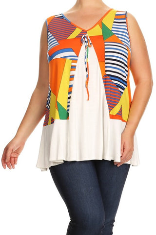 Sleeveless Plus-size Maternity Top